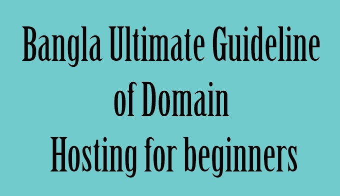 Bangla Ultimate Guideline of Domain Hosting for beginners