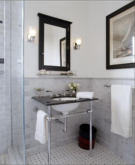 Black N White Bathroom: Library Of Inspirational Images: Bathroom