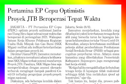 Pertamina EP Cepu Optimistic that JTB Project Operates on Time
