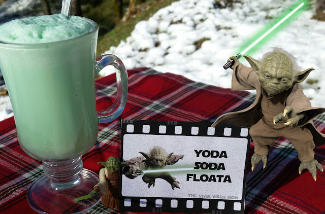 Star Wars Yoda Soda Floata Party Drink Recipe and Printable