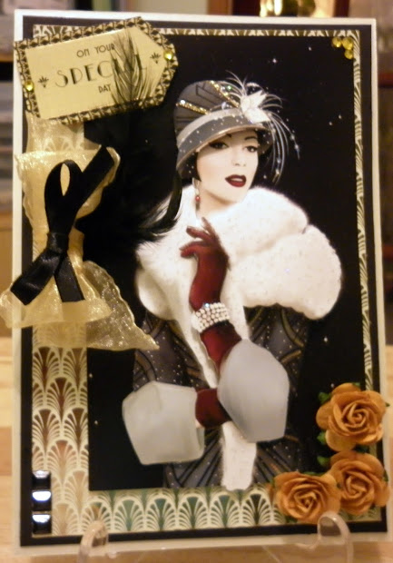 Love Socks And Cards Art Deco Lady