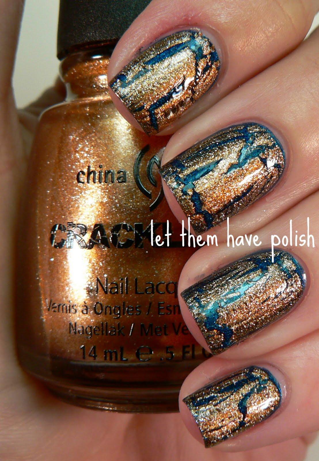 China Glaze Presenta Crakle Glaze: Let Them Have Polish!: Some China Glaze Metallic Crackle