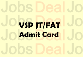 Vizag Steel Junior Trainee Admit Card 2017