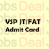 Vizag Steel Junior Trainee Admit Card 2017 RINL-VSP JT/FAT Hall Ticket