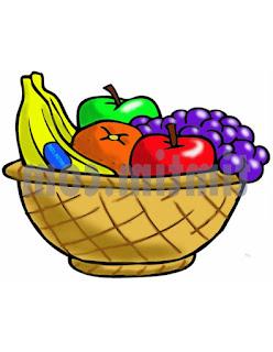 Sketsa Buah-buahan berwarna