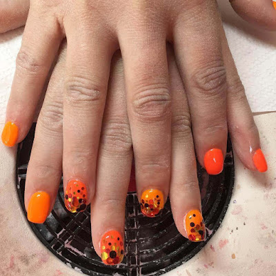 Uñas Color Naranjas