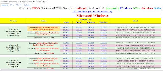 Link Download Windown + SoftWare