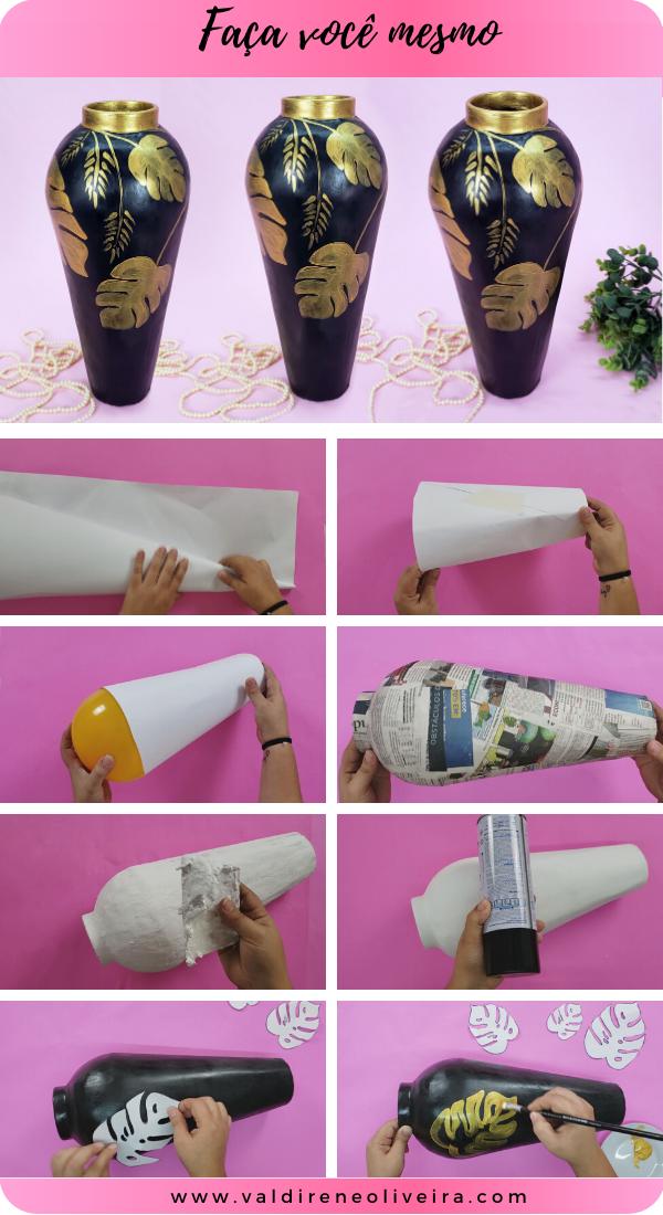faca você mesmo vasos decorativos