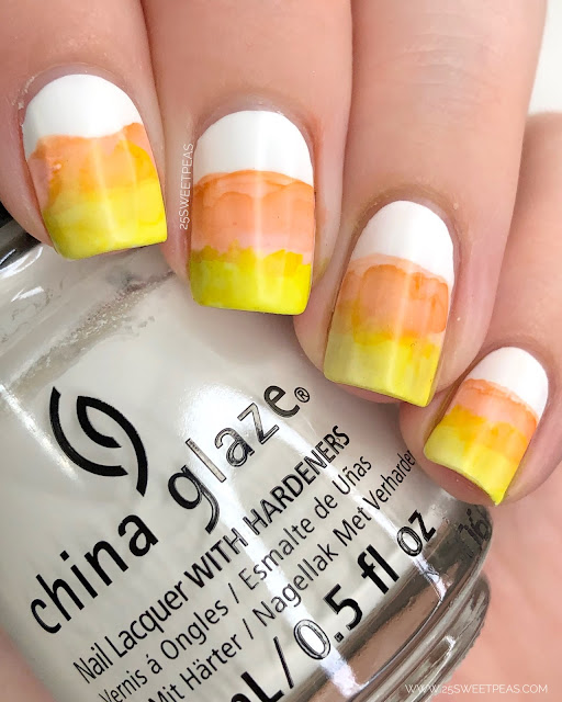 Candy Corn Nail Art - Halloween Nail Art