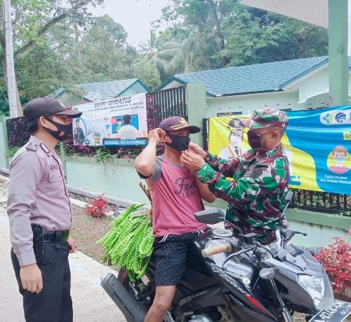 Cegah Korona, TNI-Polri Serukan Gerakan 'Ayo Pakai Masker'