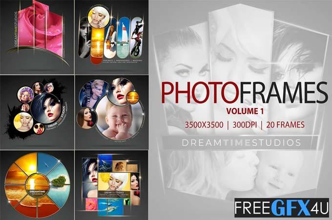 Photo Frames Vol-01 PSD Mockups Pack