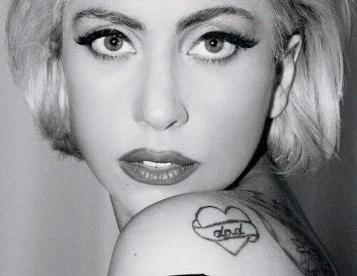 tatuagem lady gaga pai