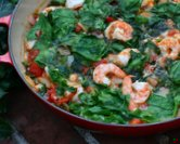 August - Shrimp with Tomatoes, Spinach & Feta