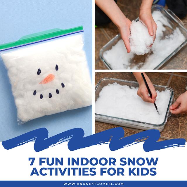 Preschool indoor snow activities