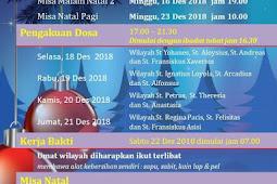 Jadwal Misa Natal 2018 di Gereja Santo Albertus Agung Paroki Harapan Indah