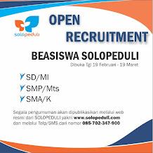 Informasi Recruitment Beasiswa Anugerah Yayasan Solopeduli Ummat Tahun 2019/2020