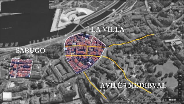 Avilés medieval: Villa amurallada y el barrio marinero de Sabugo