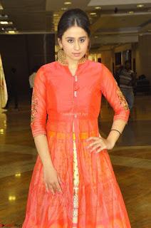 Simrat in Orange Anarkali Dress 03.JPG