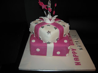 Eileen Atkinson S Celebration Cakes 18th Stacked Present