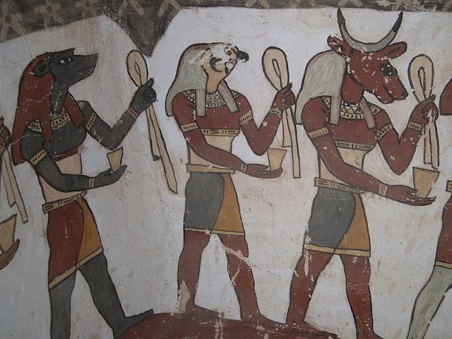 Paintings from the tomb of Petosiris at Muzawaka (XXVI)