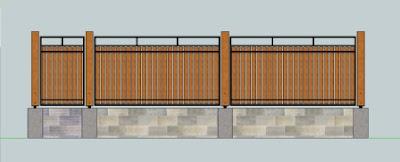 gambar pagar rumah minimalis, desain pagar minimalis, pagar kayu, pagar rumah