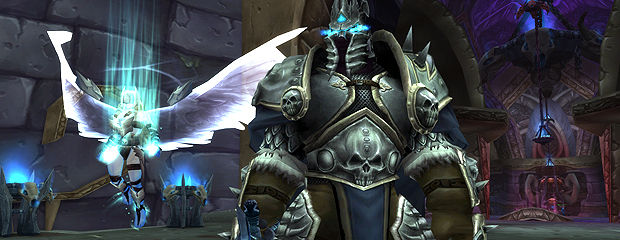 The Lich King and a valkyr in Acherus