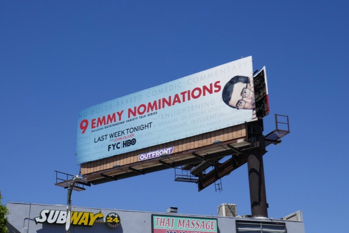 Last Week Tonight John Oliver 2019 Emmy nominee billboard