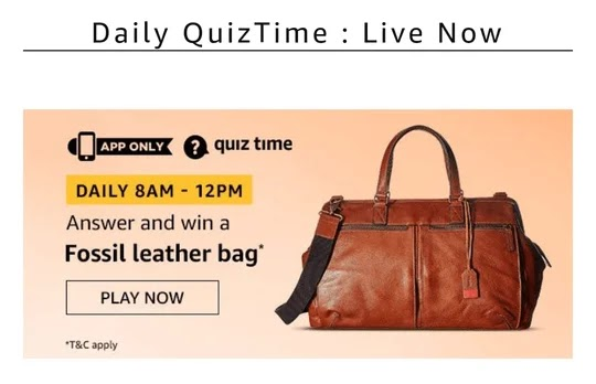 Fossil Leather Bag Quiz, Amazon Fossil Leather Bag Quiz Answer