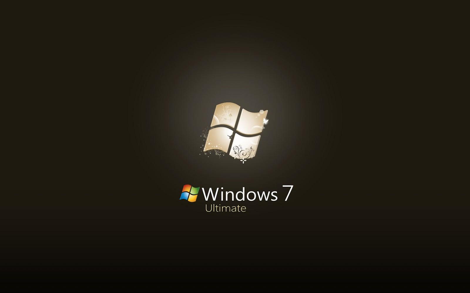 Black Color Windows 7 Wallpapers