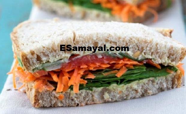 கோதுமை பிரெட் – பனீர் சாண்ட்விச் செய்வது | Wheat Bread - Paneer Sandwich Recipe !