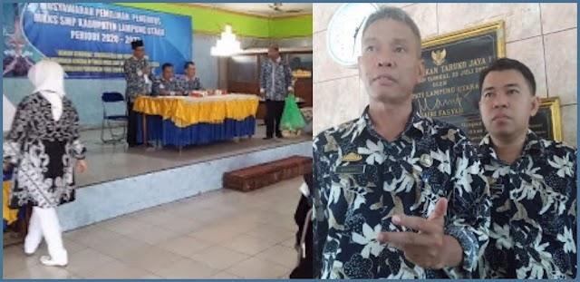 Musyawarah Pemilihan Pengurus MKKS .SMP Kabupaten Lampung Utara Periode 2020 ~ 2023  Berjalan Dengan Lancar