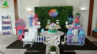 Decoração de aniversário tema Trools - Festa infantil