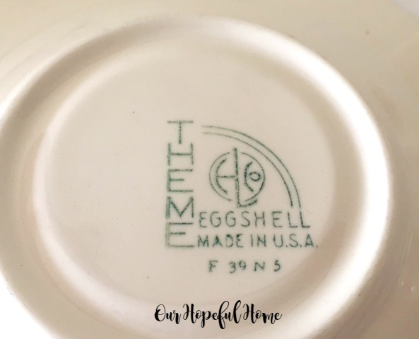 Homer Laughlin china makers mark