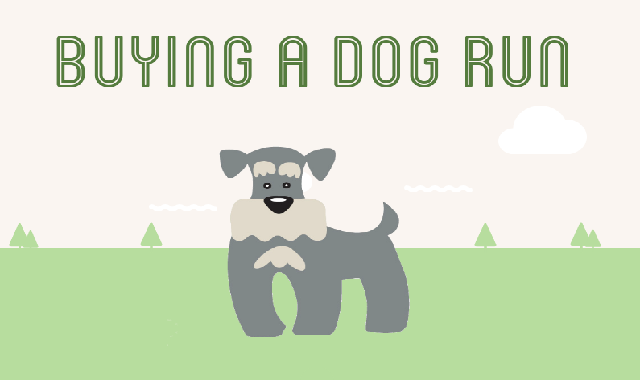 Buying a Dog Run #infographic