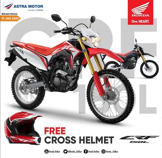 Beli Motor Honda Merk CRF150L Pasti Dapat Helm Menarik