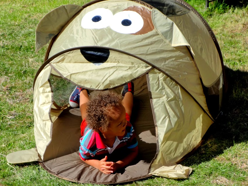 Asda Pop Up Tent perfect for a 4 Year Old's Puppet Show