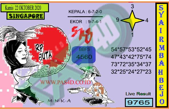 Kode syair Singapore Kamis 22 Oktober 2020 162