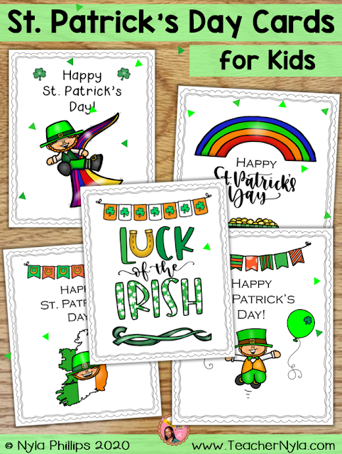 Printable St. Patrick's Day Cards for your Students to Make