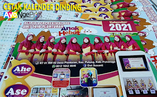 jasa cetak kalender dinding satuan murah di Cabangbungin, Bekasi