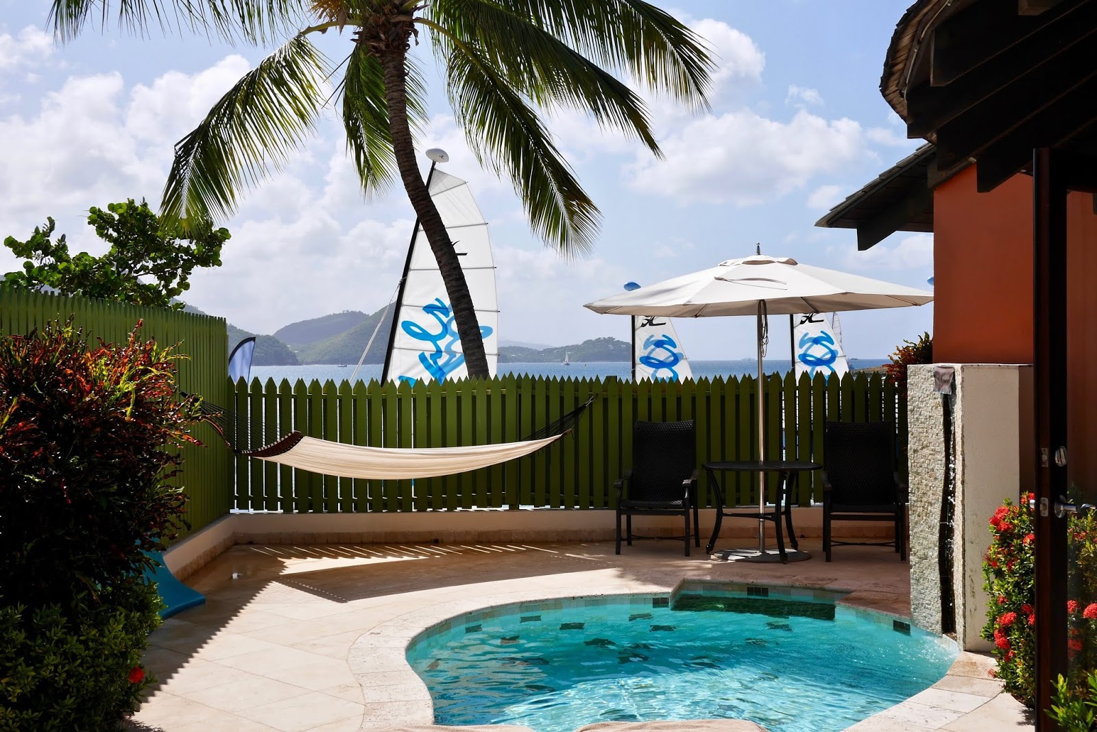 Rondoval private pool at Sandals Grande St Lucia, Sandals Grande St Lucia Review