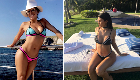 Kylie Jenner Modeling Swimsuits