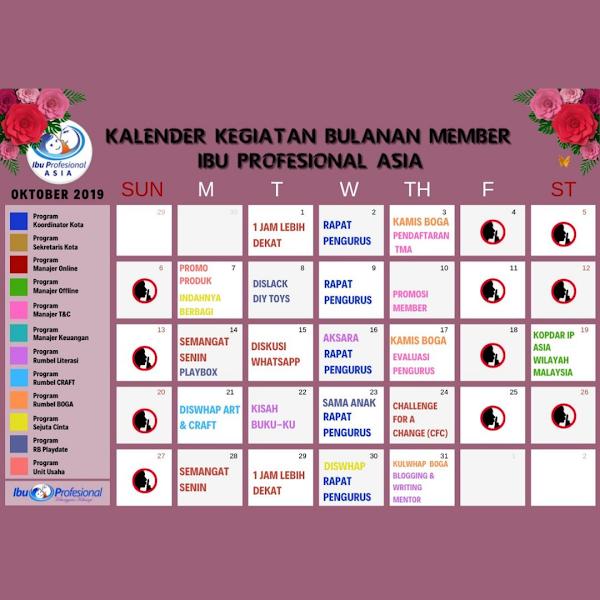 Kalender Kegiatan Ibu Profesional Asia Oktober 2019