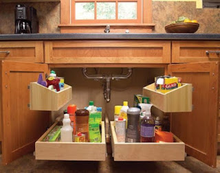 DIY Kitchen Sink Storage Trays