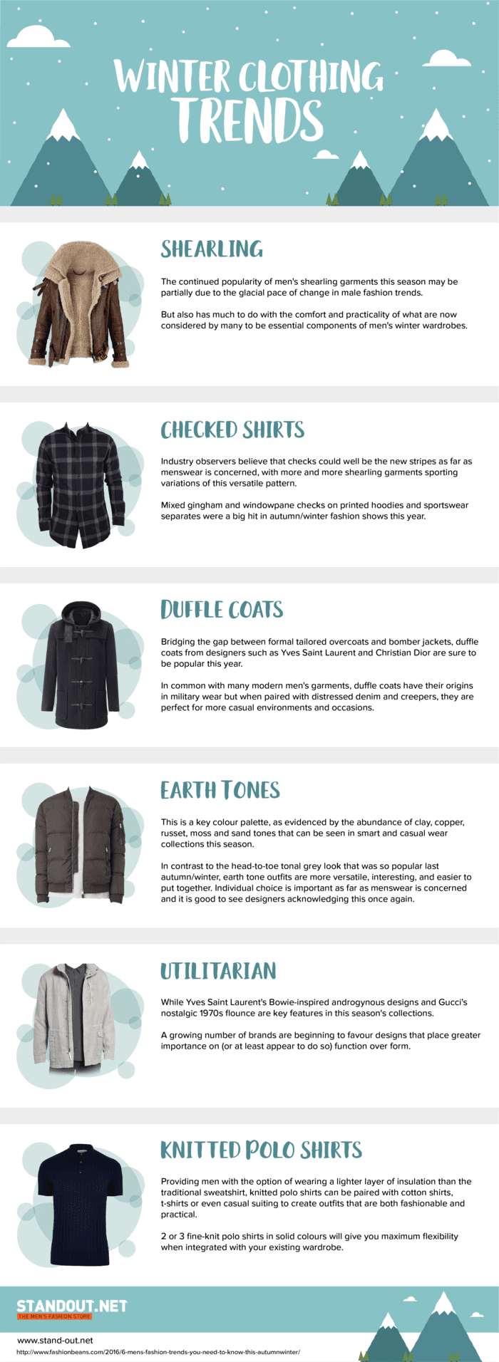 Winter Clothing Trends #infographic #Clothes #Winter #Trends #Winter Clothing #Fashion