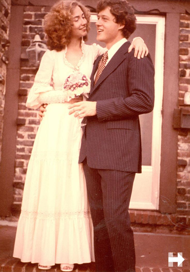Hillary Clinton's 1975 wedding to former US President Bill Clinton