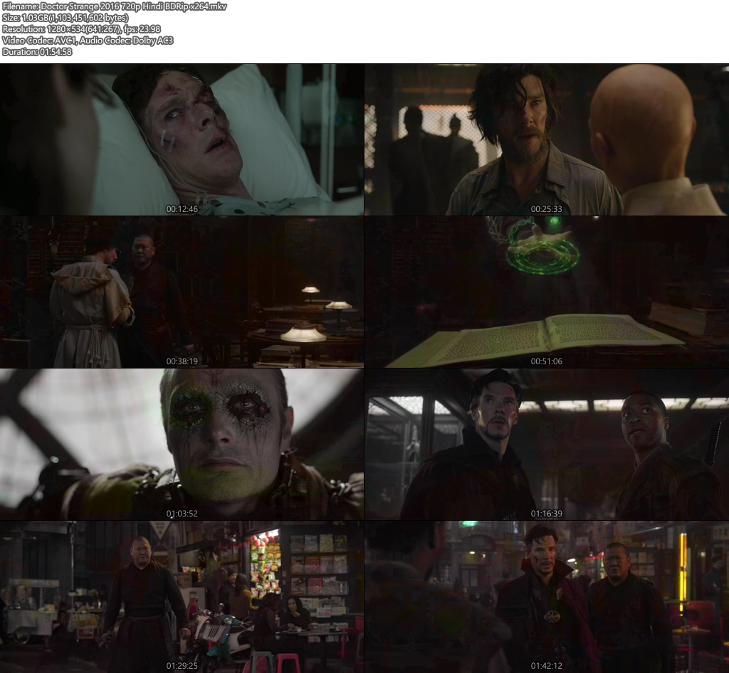 Doctor Strange 2016 720p Hindi BDRip x264 | 480p 300MB | 100MB HEVC Screenshot
