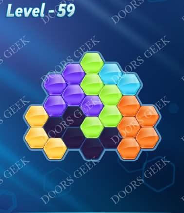 Block! Hexa Puzzle [6 Mania] Level 59 Solution, Cheats, Walkthrough for android, iphone, ipad, ipod