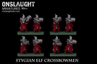 Stygian Elf Crossbowmen by Onslaught Miniatures