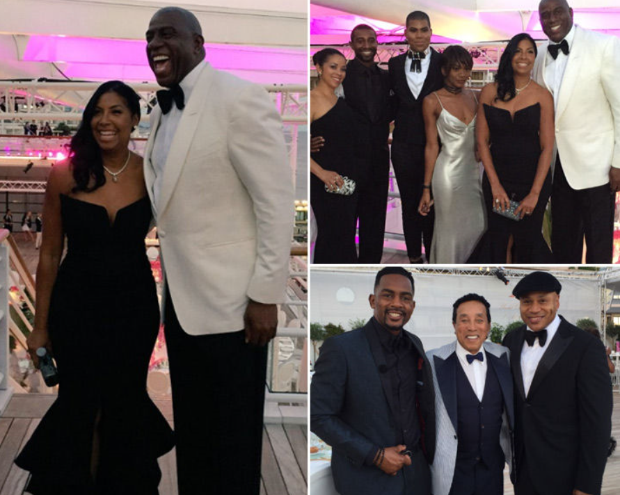 Cookie Johnson Celebrated Their 25th Wedding Anniversary Party At The Yacht Club De Monaco Where Stars Like LL Cool J Smokey Robinson Steve Harvey