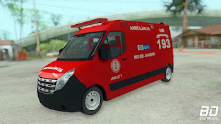 Download, mod, carro, Ambulancia, Renault, Master, CBMERJ, GTA San Andreas